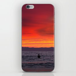 Surfers watching Sunset iPhone Skin