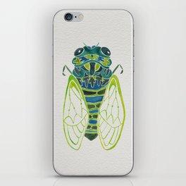 Blue Cicada iPhone Skin