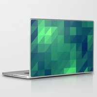 seahawks Laptop & iPad Skins featuring Polygon Nine by Jambot