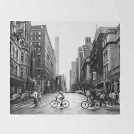 New York City Streets Throw Blanket