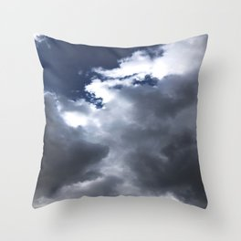 Blue Sky White Clouds Throw Pillow