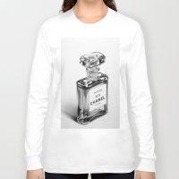 perfume Long Sleeve T-shirts featuring Perfume Bottle by Ileana Hunter