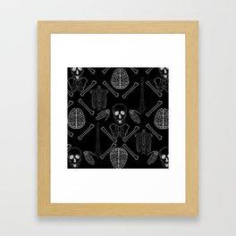 band of skulls - negative Framed Art Print