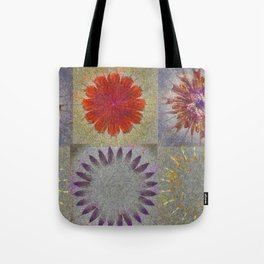 Uncaptivate Stripped Flower  ID:16165-034048-23510 Tote Bag