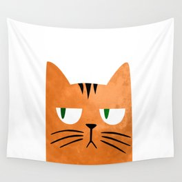 Orange cat with attitude Wall Tapestry