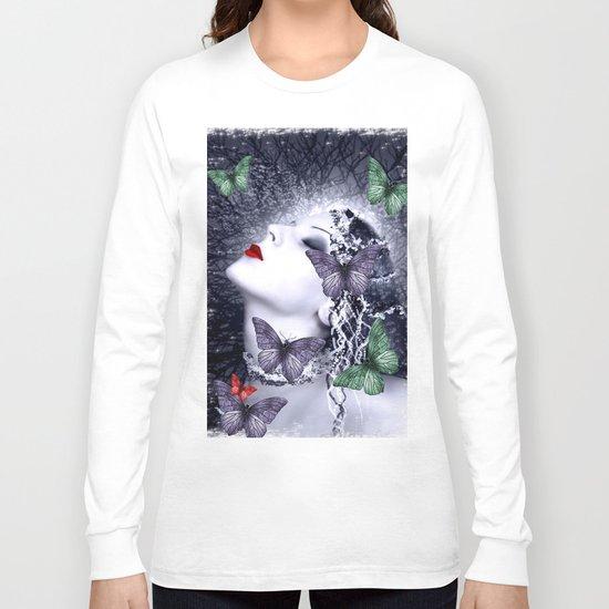Women and butterfly dream Long Sleeve T-shirt