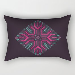 Neon Diamond Rectangular Pillow