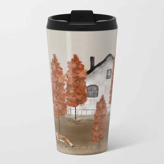 an autumns morning Metal Travel Mug