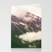 the mountains are calling Stationery Cards featuring The Mountains Are Calling by Noonday Design