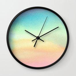 Pride Watercolor Wash Wall Clock