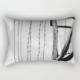 Barb wire 3 Rectangular Pillow