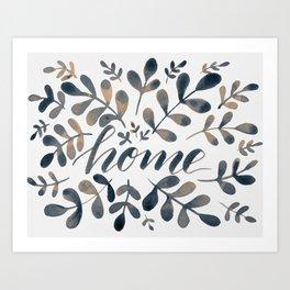 Watercolor home foliage – neutral Art Print