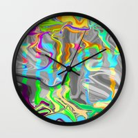 trippy Wall Clocks featuring Trippy by Calepotts
