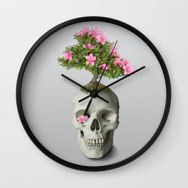 Bonsai Skull Wall Clock