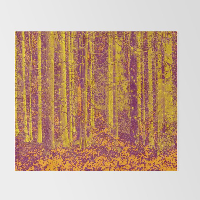 In the middle of the forest #decor #society6 Throw Blanket