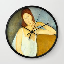 Jeanne Hebuterne by Amedeo Modigliani Wall Clock