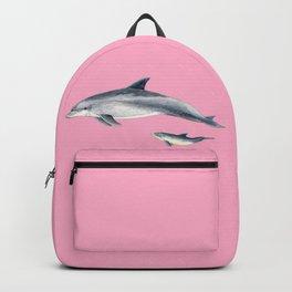 Bottlenose dolphin pink Backpack