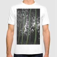 What Would You Do For Bamboo? White MEDIUM Mens Fitted Tee