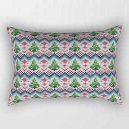 Christmas knitted pattern. Rectangular Pillow
