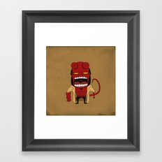Screaming Helldude Framed Art Print
