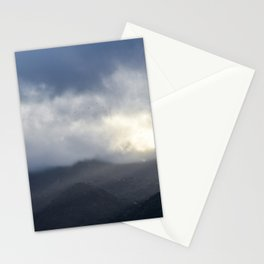 Light Streaming over mountains Stationery Cards