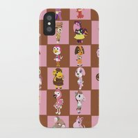animal crossing iPhone & iPod Cases featuring Animal Crossing: Chocolate Strawberry by Square Aquarium