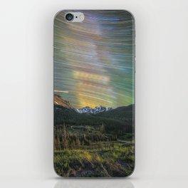 Startrails over nokhu crags iPhone Skin