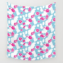 Quince flower pattern 2a Wall Tapestry
