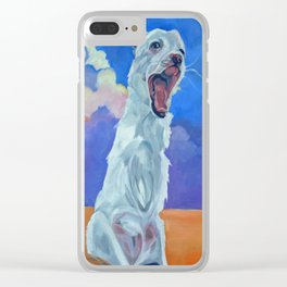 Special Needs Pippin Dog Portrait Clear iPhone Case