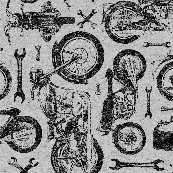 Vintage Motorcycle Pattern Leggings