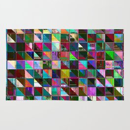 glitch color pattern Rug