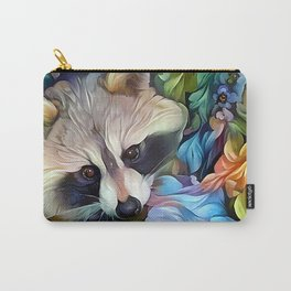 Peekaboo Raccoon Carry-All Pouch