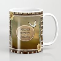 home sweet home Mugs featuring Home Sweet Home by LLL Creations
