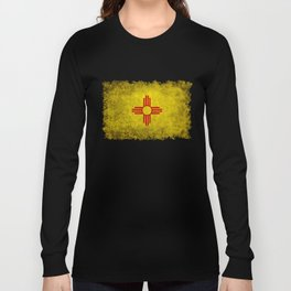 Flag of New Mexico - vintage retro style Long Sleeve T-shirt