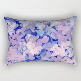 Indigo Evening Floral Rectangular Pillow