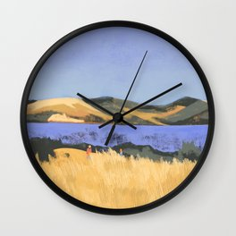 Lake in Marin County Wall Clock