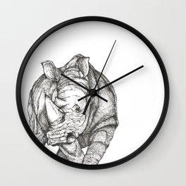 Pen sketch of a Rhino Wall Clock