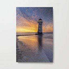 Sunset at the Lighthouse Metal Print