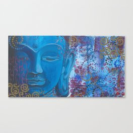 Buddha in Blue Canvas Print