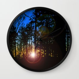 SUNSET FLARE Wall Clock