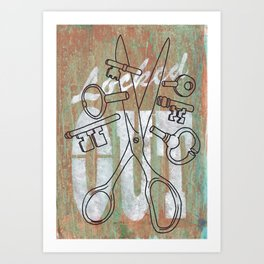 Locked Out? get some more keys cut yeah! Art Print