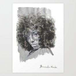 SHY black woman  Art Print