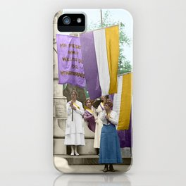 Lafayette, We Are Here! Suffragists protest across from the White House in 1918 iPhone Case