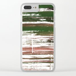Kombu green abstract watercolor Clear iPhone Case