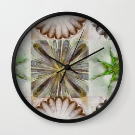 Dentalium Speculation Flower  ID:16165-144752-76360 Wall Clock