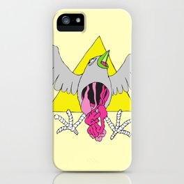 Crow Geo Guts - Yellow iPhone Case