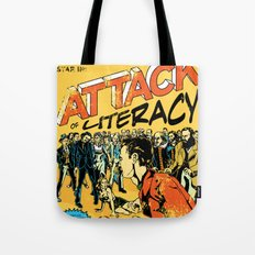 Attack of Literacy Tote Bag
