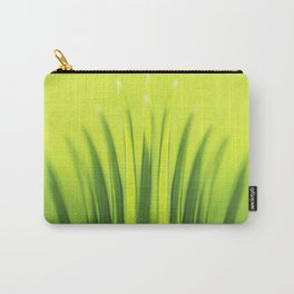Palm Tree Sunlight Leaf Tropical Summer Green Yellow Hawaii Pattern Carry-All Pouch