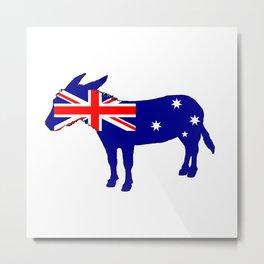 Australian Flag - Donkey Metal Print