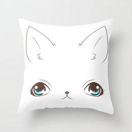 Derpy Cat Throw Pillow